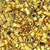 Miyuki Tila Half Cut 5X2.3mm 2Hole Gold Opaque